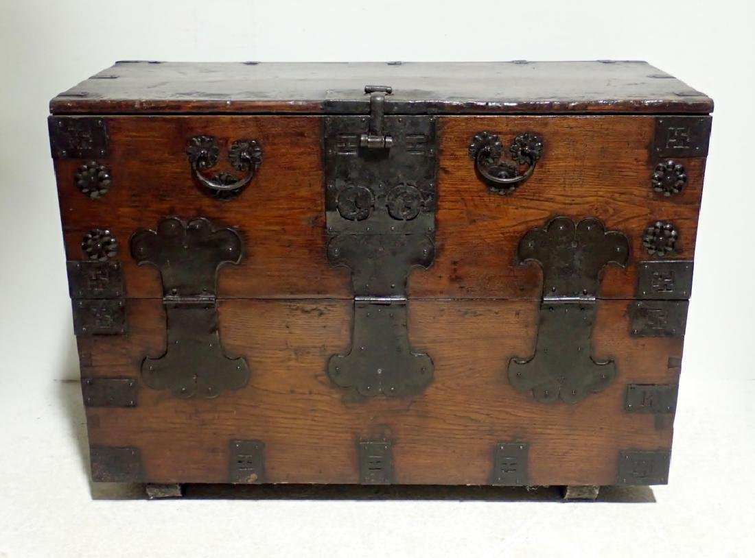 Vintage Asian Wooden Chest