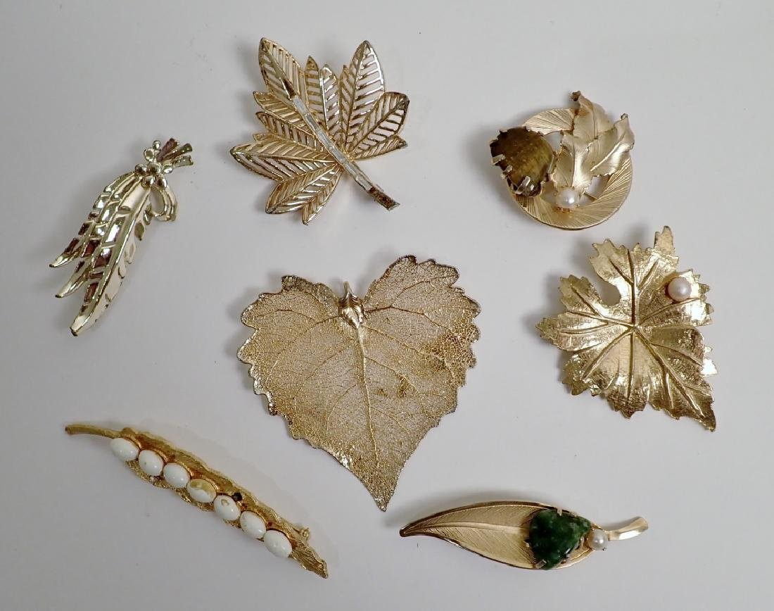 Collection of Leaf Design Fashion Brooches