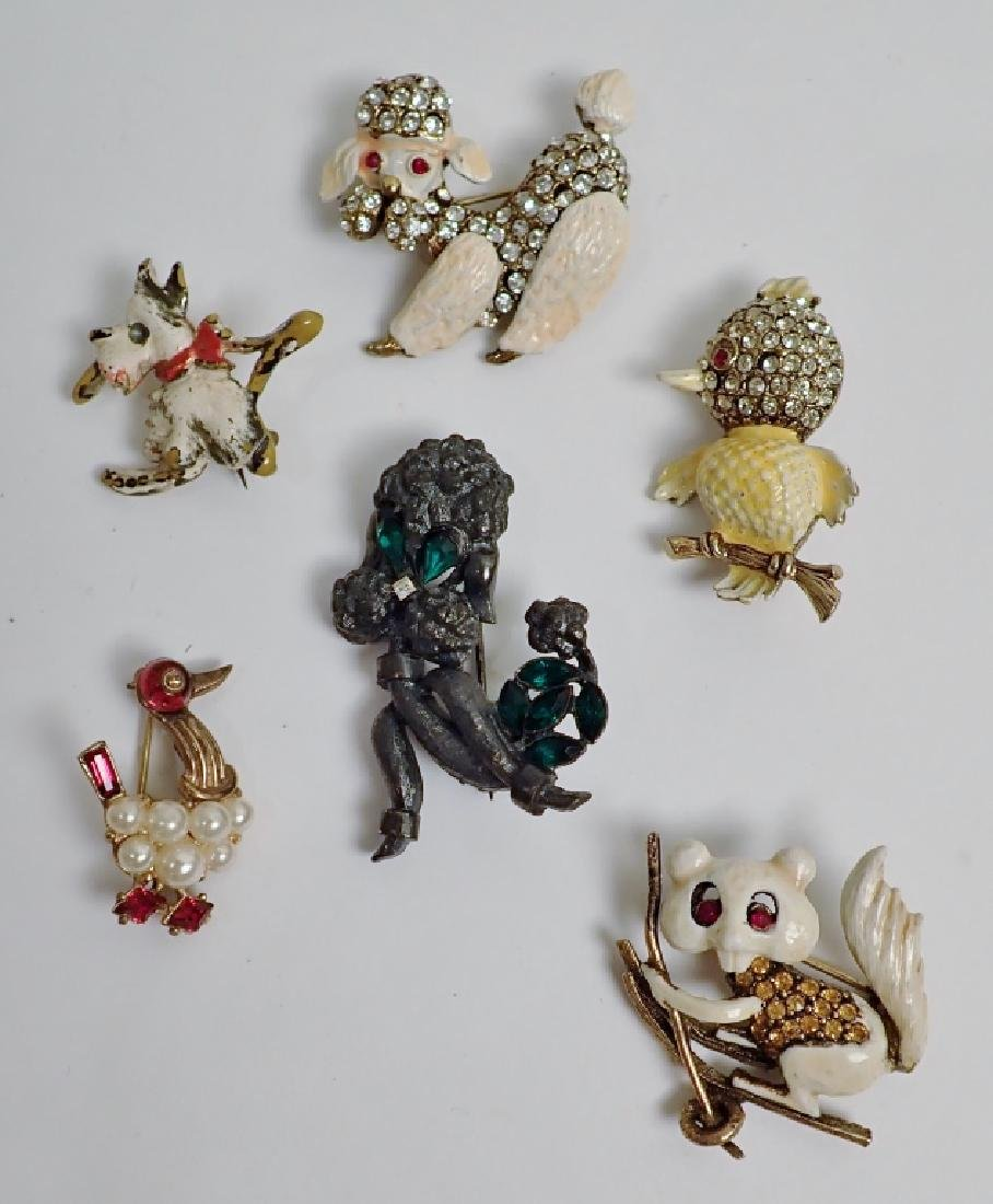 Vintage Animal Enamel Brooch Collection