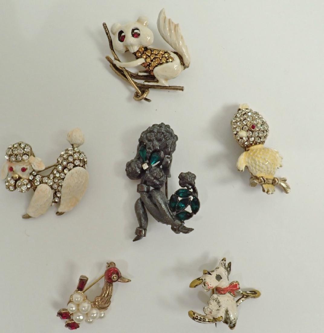 Vintage Animal Enamel Brooch Collection - 8
