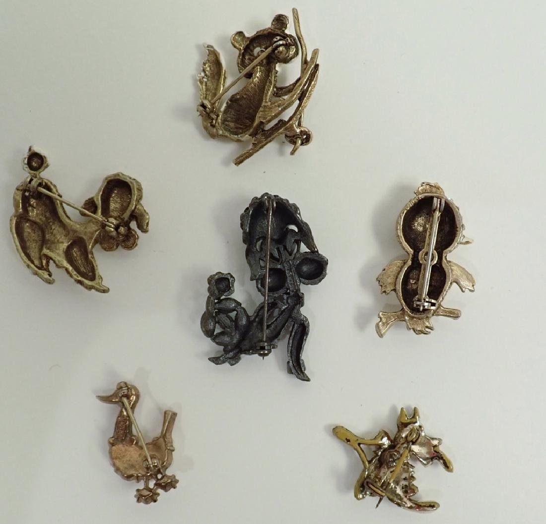 Vintage Animal Enamel Brooch Collection - 9