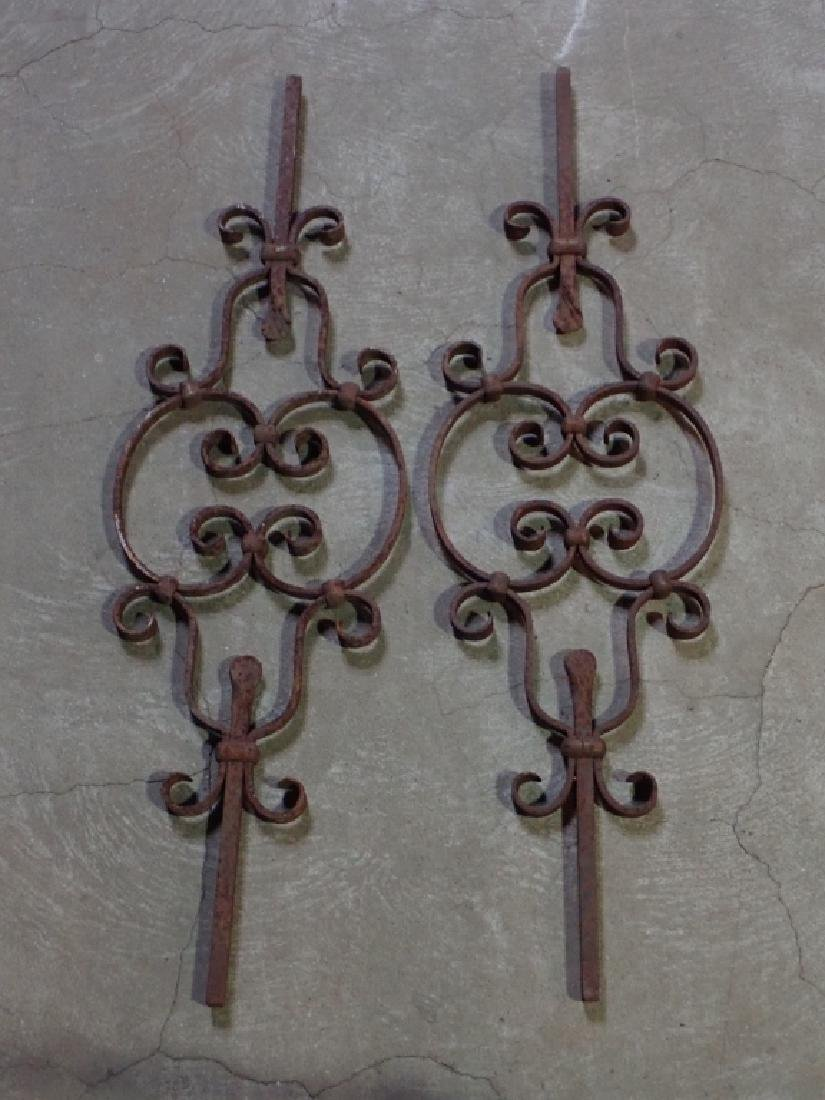 Pair of Steel Architectural Elements