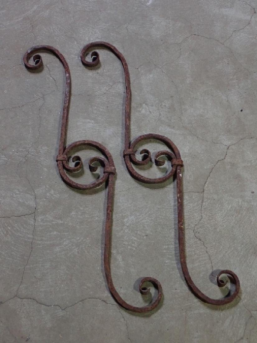 Pair of Architectural Steel Elements
