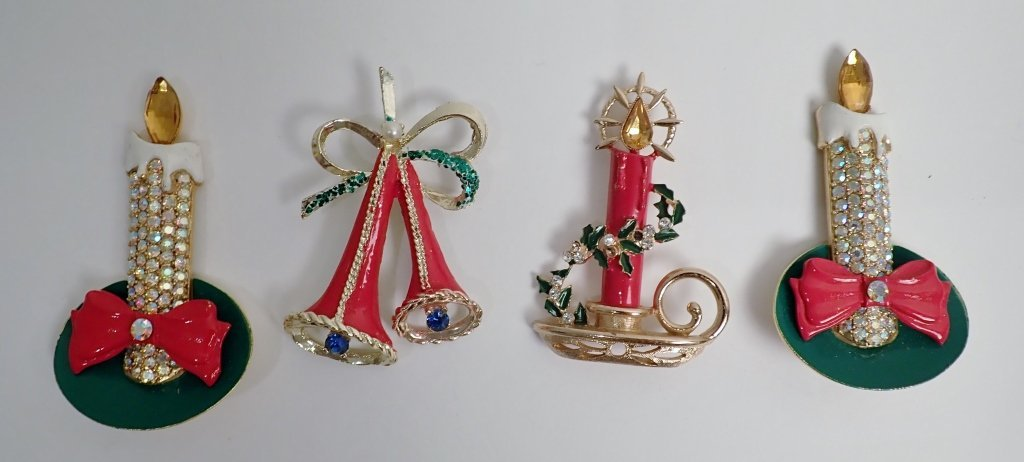 Vintage Christmas Brooch Collection - Kramer, Hedy