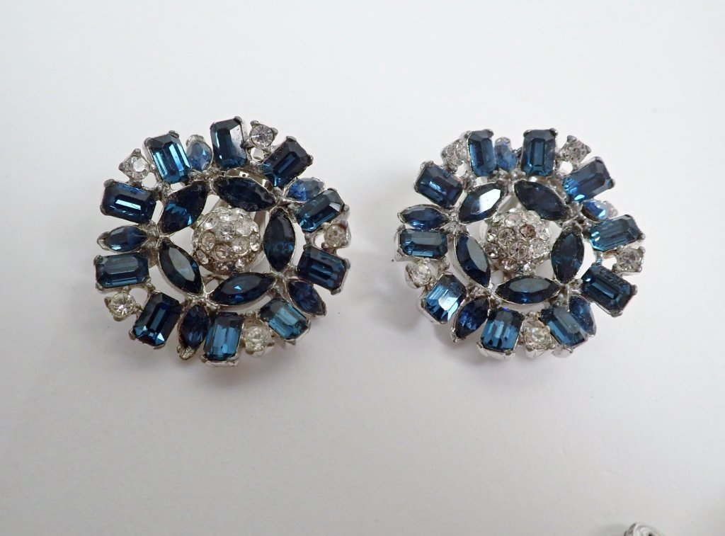 Collection of Signed Vintage Clip-On Earrings - 4