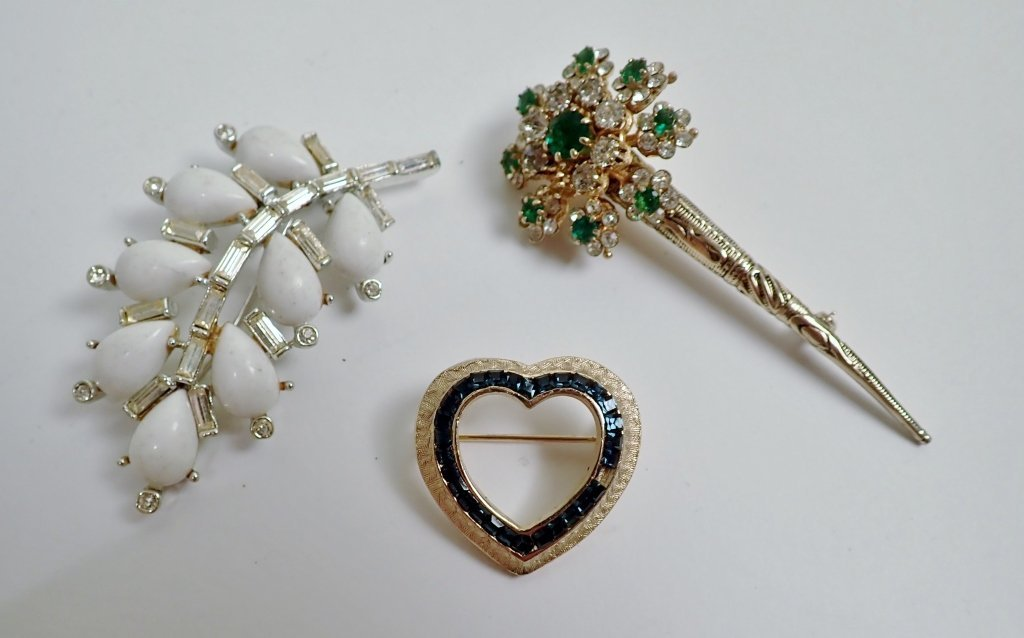 Three Signed Vintage Brooches - 10