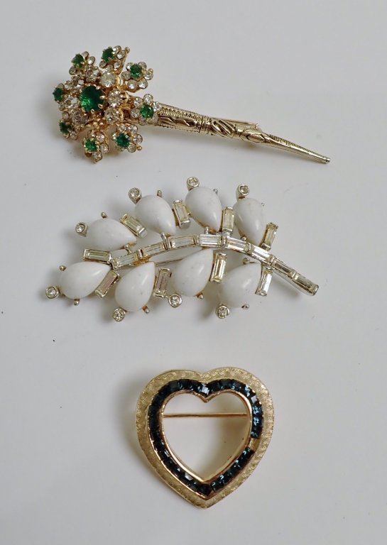 Three Signed Vintage Brooches