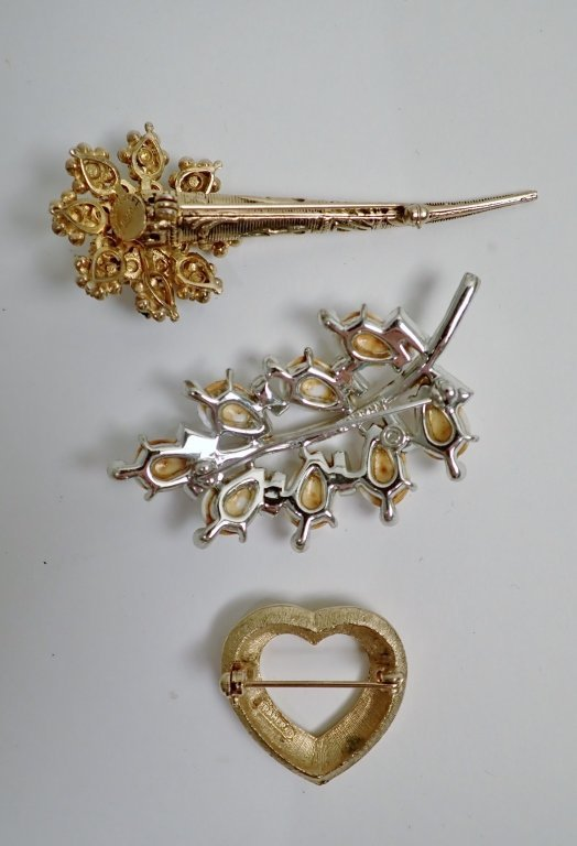 Three Signed Vintage Brooches - 2