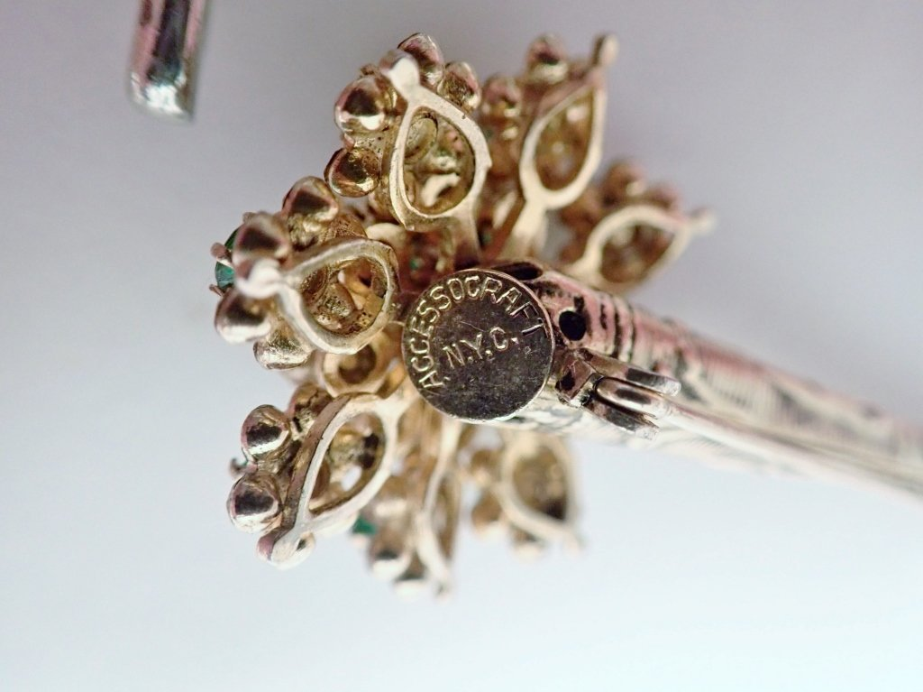Three Signed Vintage Brooches - 8