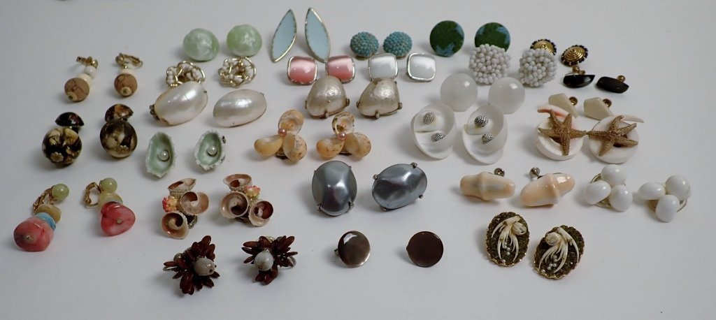 Vintage Costume Non-Pierced Earring Collection
