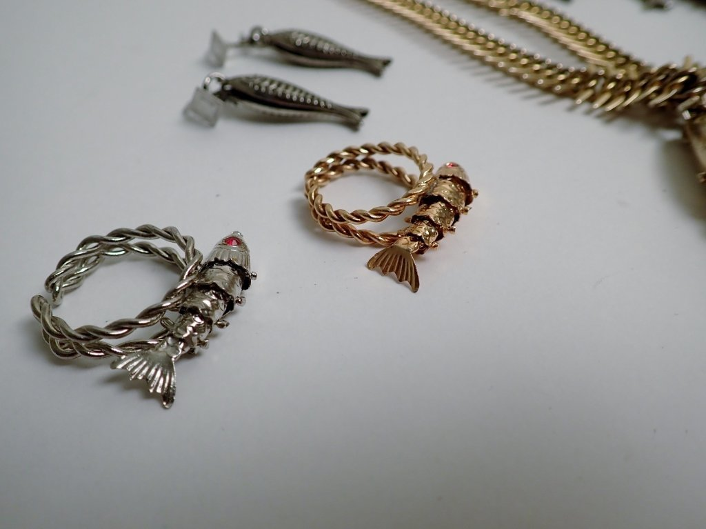 Collection of Vintage Fish Themed Jewelry - 4