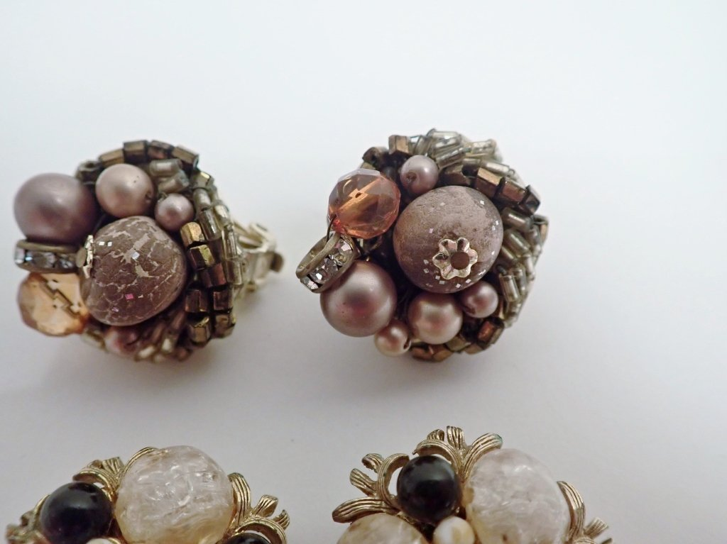 Vintage Kramer Clip-on Earrings - 5