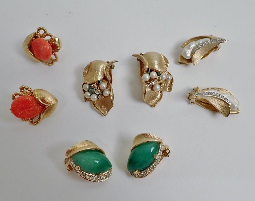 Vintage Kramer Fashion Earring Assortment