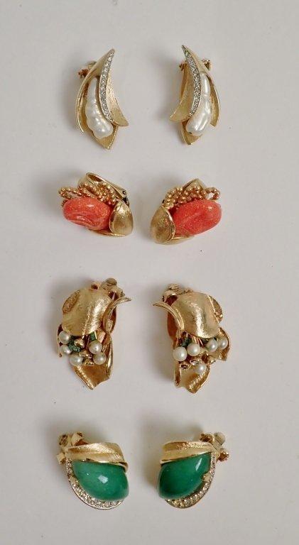 Vintage Kramer Fashion Earring Assortment - 2