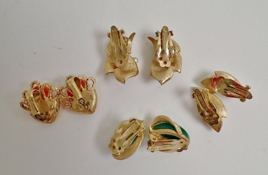 Vintage Kramer Fashion Earring Assortment - 3