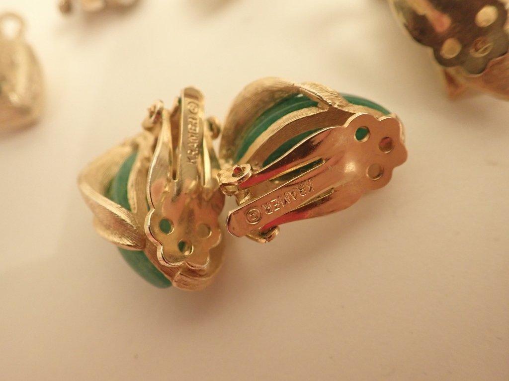 Vintage Kramer Fashion Earring Assortment - 5