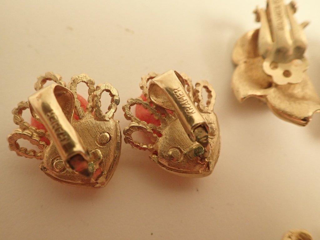 Vintage Kramer Fashion Earring Assortment - 7