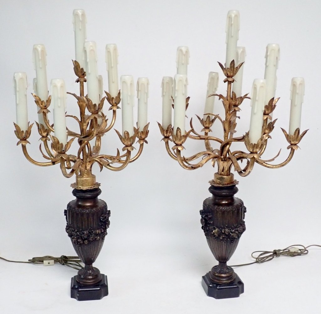 Candelabra Lamp Pair