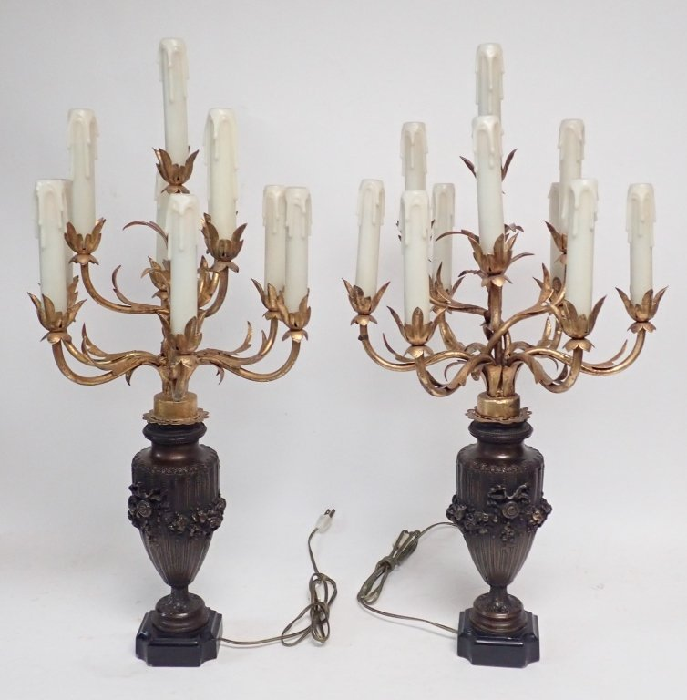 Candelabra Lamp Pair - 6