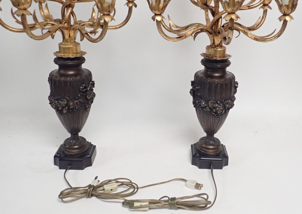 Candelabra Lamp Pair - 9