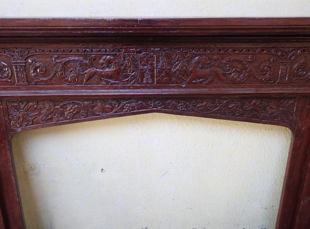 Large Renaissance Revival Fireplace Surround - 4