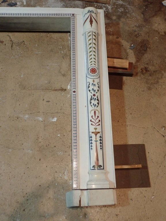 Antique Continental Scagliola Marble Fireplace - 2