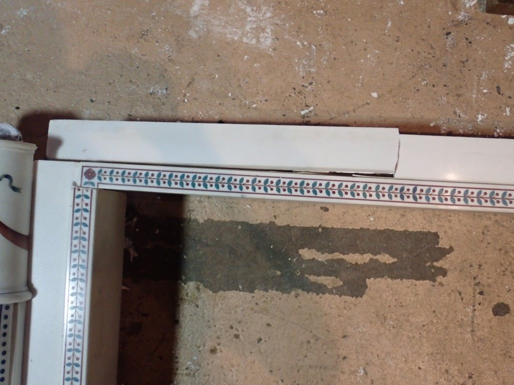 Antique Continental Scagliola Marble Fireplace - 6