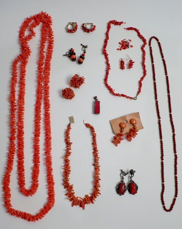 Vintage Coral Jewelry Assortment