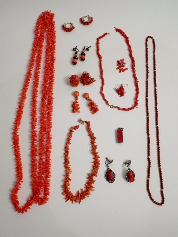 Vintage Coral Jewelry Assortment - 2