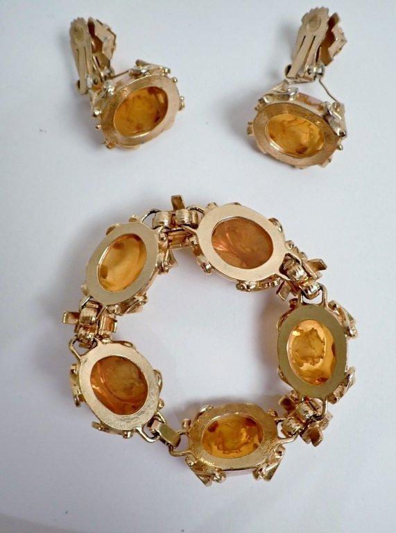 Vintage Amber Bracelet & Earring Set - 3