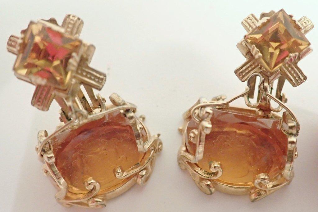 Vintage Amber Bracelet & Earring Set - 4