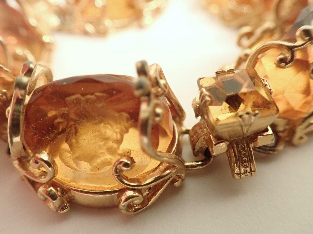 Vintage Amber Bracelet & Earring Set - 5