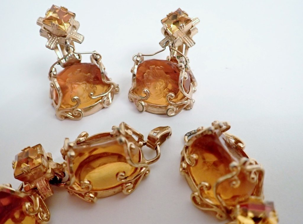 Vintage Amber Bracelet & Earring Set - 6