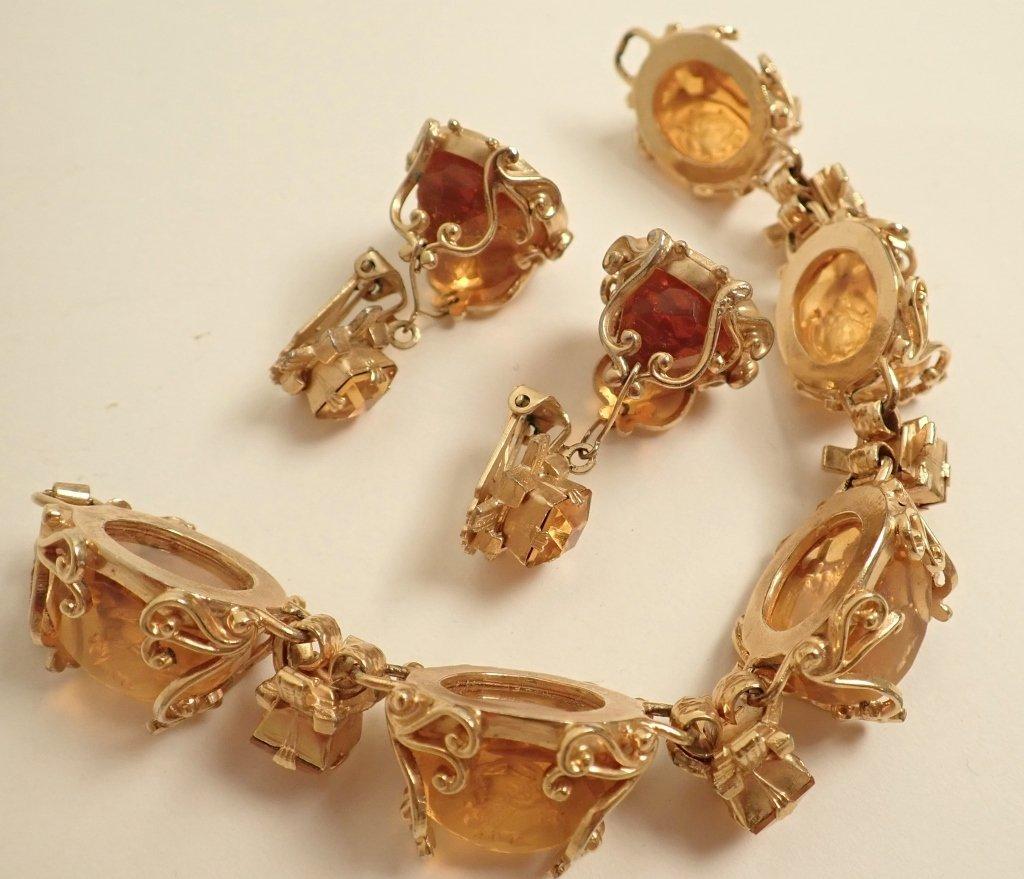 Vintage Amber Bracelet & Earring Set - 8