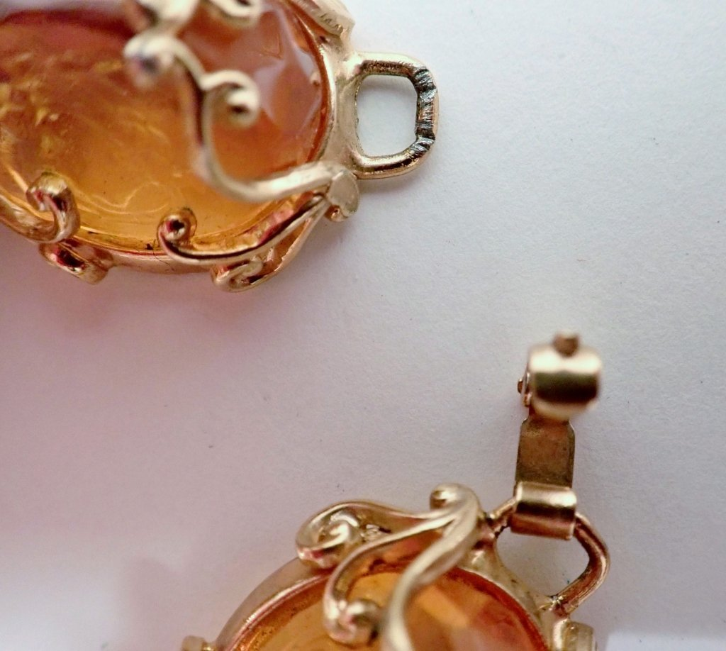 Vintage Amber Bracelet & Earring Set - 9