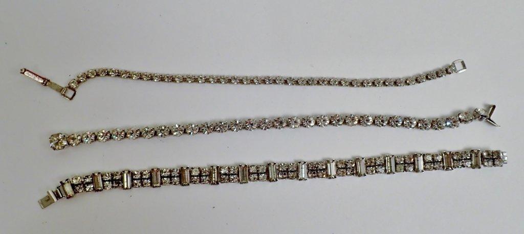 Collection of Faux Diamond CZ Bracelets - 10