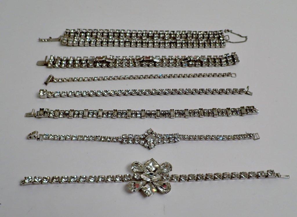 Collection of Faux Diamond CZ Bracelets - 2