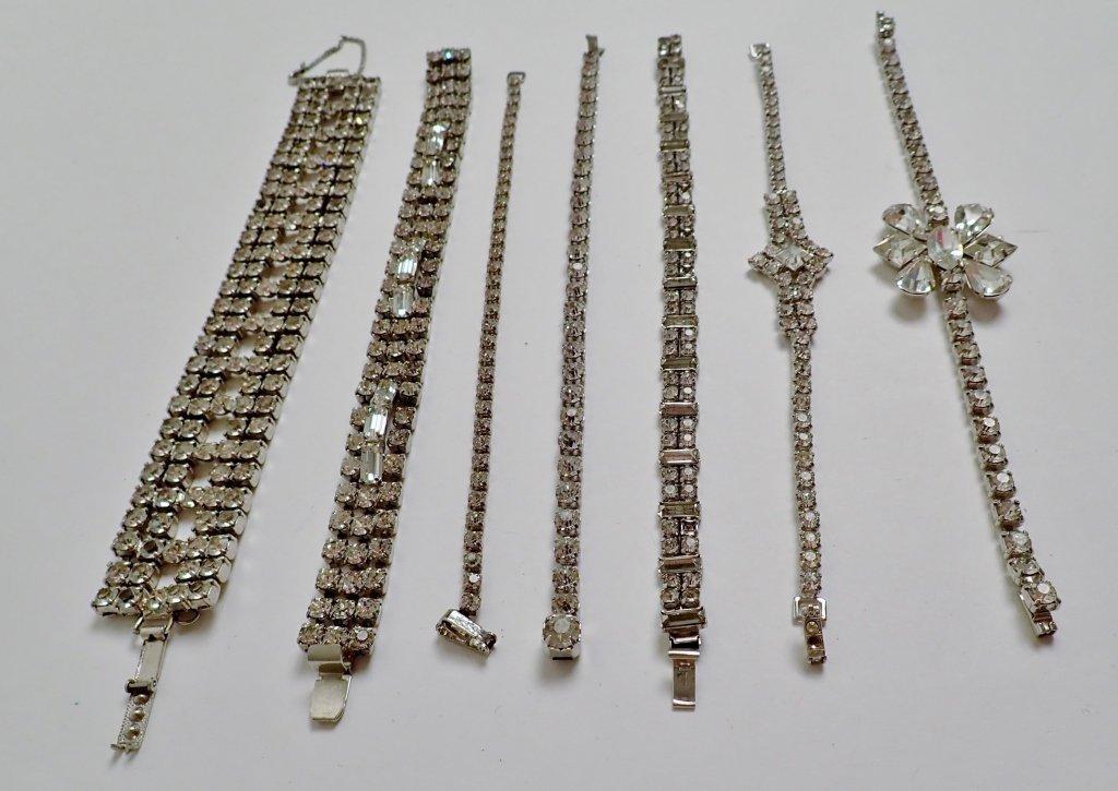 Collection of Faux Diamond CZ Bracelets - 3
