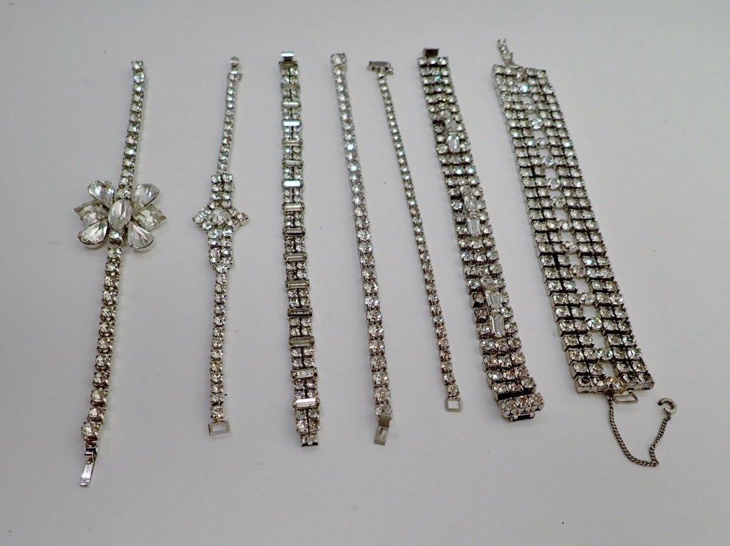 Collection of Faux Diamond CZ Bracelets - 4