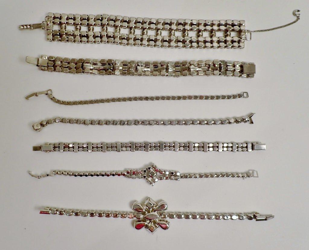 Collection of Faux Diamond CZ Bracelets - 6