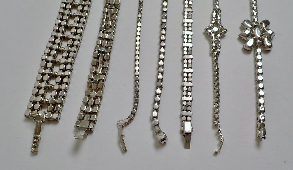 Collection of Faux Diamond CZ Bracelets - 7
