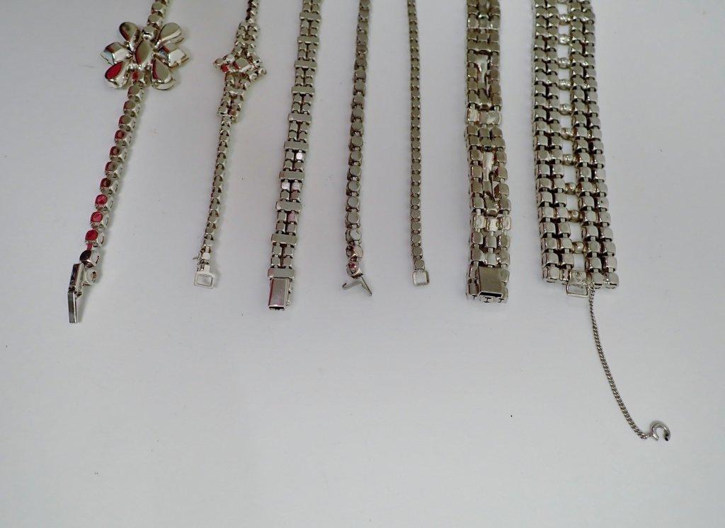 Collection of Faux Diamond CZ Bracelets - 8