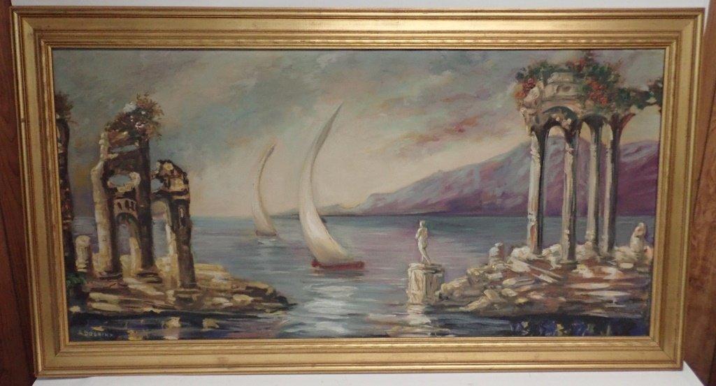Painting of Harbor Scene