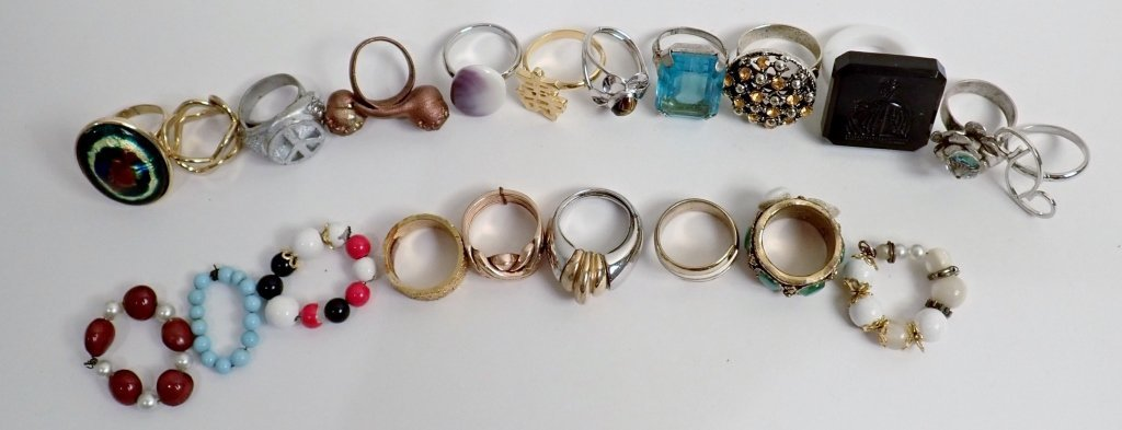Large Collection of Fashion Rings