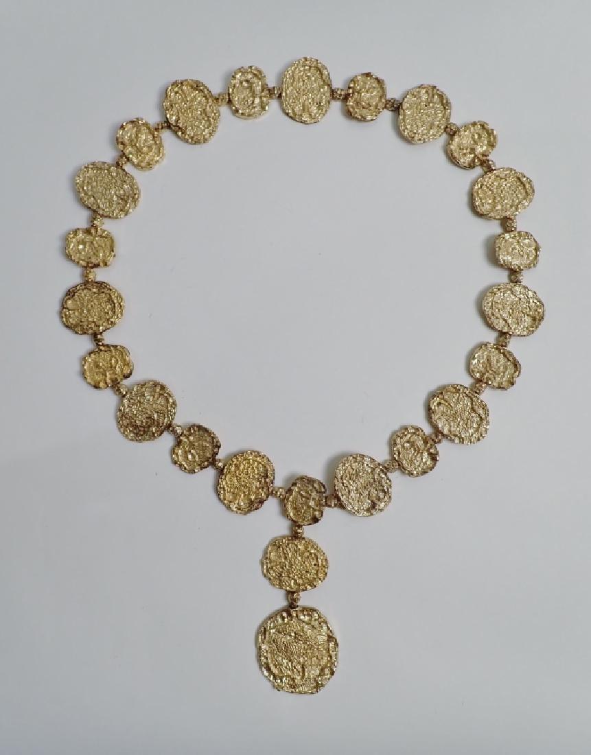 Cartier Gilt Silver Vermeil Necklace-Belt - 10