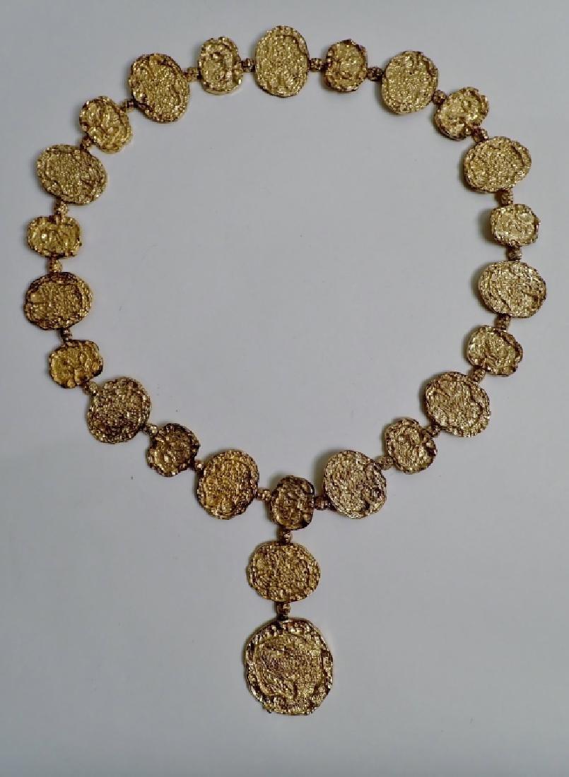 Cartier Gilt Silver Vermeil Necklace-Belt