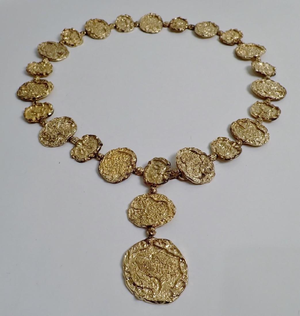 Cartier Gilt Silver Vermeil Necklace-Belt - 2