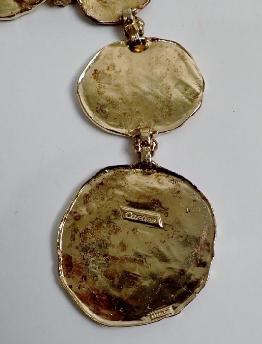 Cartier Gilt Silver Vermeil Necklace-Belt - 4