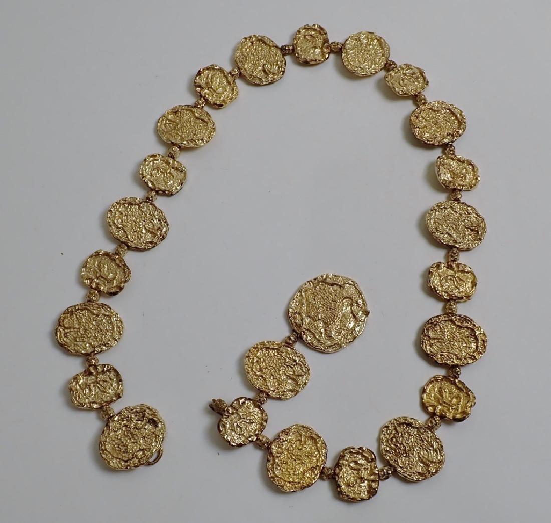 Cartier Gilt Silver Vermeil Necklace-Belt - 8