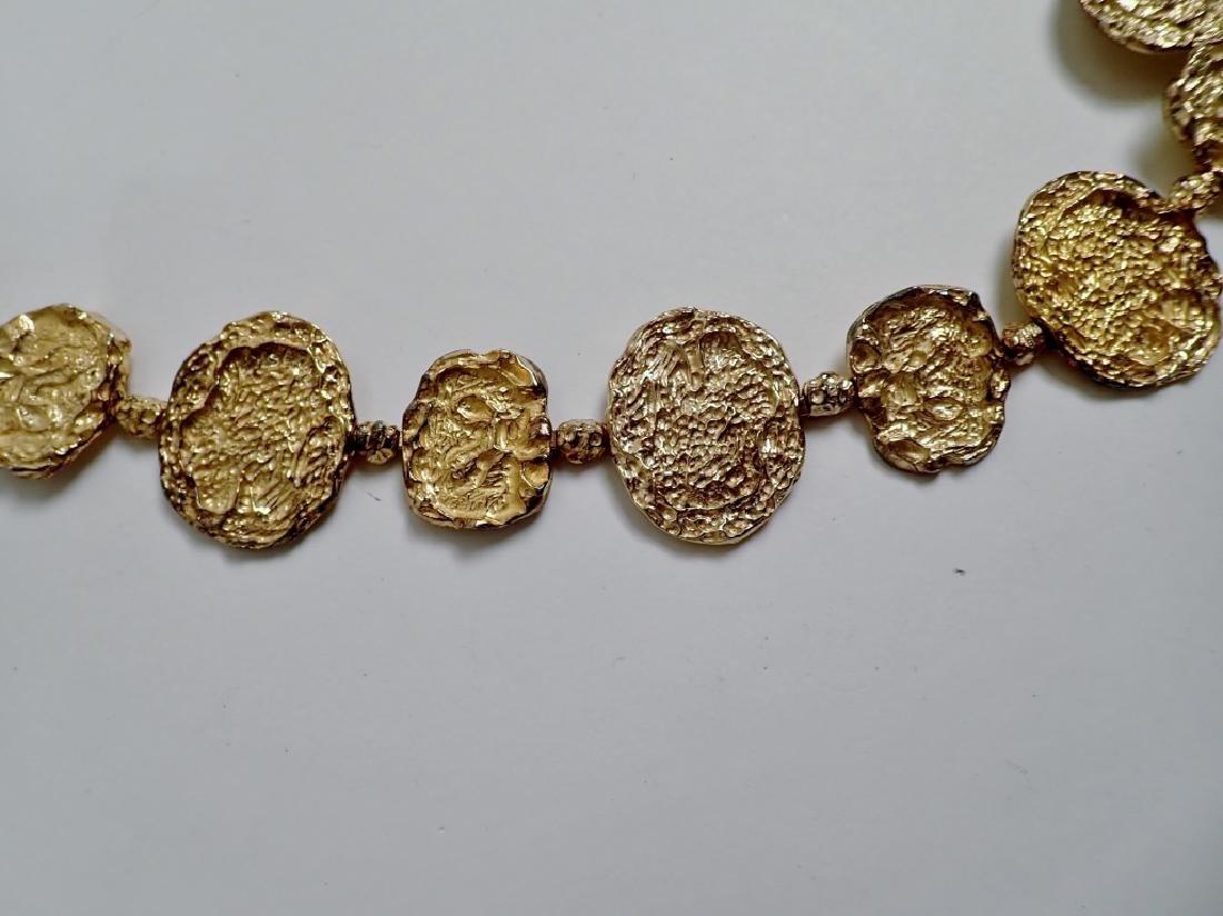 Cartier Gilt Silver Vermeil Necklace-Belt - 9